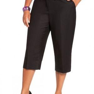 Worthington Black Khaki Crop Pants